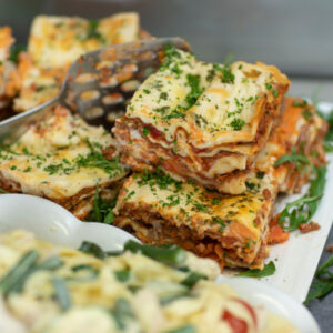 Delicious Lasagne at The Food Shop in Mount Merrion