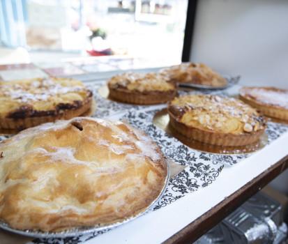 Pies and tarts at the food shop